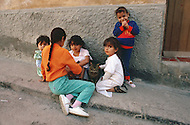 May 7th, 1987. In Melilla, Spanish Morocco. The Muslims have much more kids than the European Spanish, they are all over the streets of the city.