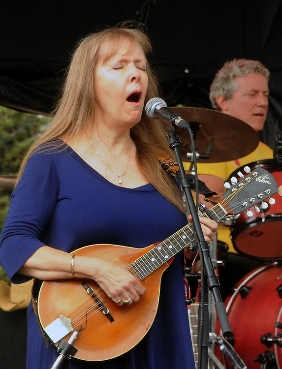 Detail shot of Janice Hardgrove-Kollar, playing with the Dharma Bums, who were the opening act on the West Stage of the Mountain Jam Music Festival of 2015, in Hunter, NY, on Thursday June 4, 2015. Photo by Jim Peppler. Copyright Jim Peppler 2015.
