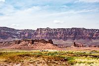 Vermilion Cliffs National Monument seen from Highway 89A near Navajo Bridge. Marble Canyon, Arizona.