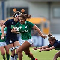 2nd February 2020; Energia Park, Dublin, Leinster, Ireland; International Womens Rugby, Six Nations, Ireland versus Scotland; Sene Naoupu (Ireland) makes a break