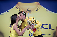 Giulio Ciccone (ITA/Trek-Segafredo) is the new yellow jersey / GC leader<br /> <br /> Stage 6: Mulhouse to La Planche des Belles Filles (157km)<br /> 106th Tour de France 2019 (2.UWT)<br /> <br /> ©kramon