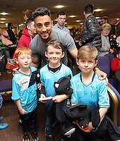 Pictured: Neil Taylor Tuesday 06 December 2016<br /> Re: Swansea City FC Christmas Party at the Liberty Stadium, Wales, UK