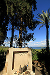Israel, Grave of Rachel the poet at Kinneret cemetery by the Sea of Galilee