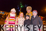 Kate Collins, Anna Collins, Jack Collins, Niall Collins and Colette Collins from Kielduff enjoying the New Year's Eve fireworks display at Manor on Wednesday evening