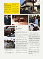 MONOCLE (British luxury consumers' monthly) on Hungarian leather bag industry, 04.2014. Photo: Martin Fejer