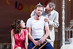 "Begoña Maestre, Eloy Azorin and Juan Diego during theater play of ""Una gata sobre un tejado de Cinc caliente"" at Reina Victoria theater in Madrid, Spain. March 15, 2017. (ALTERPHOTOS/BorjaB.Hojas)"