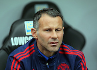 Pictured: Manchester United assistant manager Ryan Giggs Sunday 30 August 2015<br /> Re: Premier League, Swansea v Manchester United at the Liberty Stadium, Swansea, UK