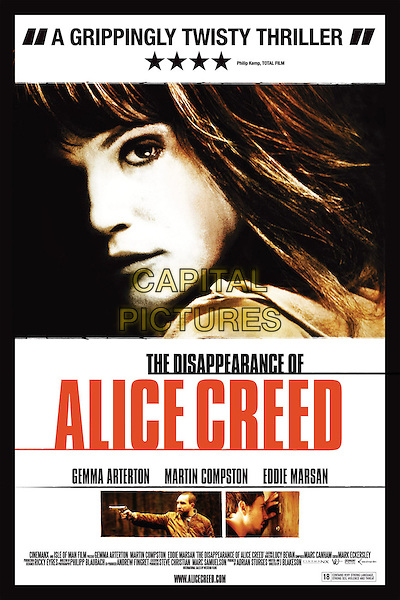 POSTER ART.in The Disappearance of Alice Creed .*Filmstill - Editorial Use Only*.CAP/FB.Supplied by Capital Pictures.