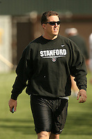 11 April 2007: Jon Haskins during spring practice at the practice field in Stanford, CA.