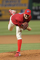 April 13, 2010 Pitcher Austin Hyatt of the Clearwater Threshers, Florida State League Class-A affiliate of the Philadelphia Phillies, during a game at Bright House Networks Field in Clearwater Fl. Photo by: Mark LoMoglio/Four Seam Images