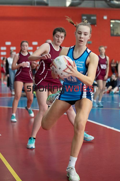 Junior Netball Tournament<br /> House of Sport Cardiff<br /> 01.02.20<br /> ©Steve Pope<br /> Sportingwales