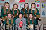 AWARDS: Ist year students of Causeway Comprehensive School, Causeway were presented with their Milit National Dairy Awartd at the Causeway Comprehensive School Awards on Thursday evening. Front l-r: Lisa Kearney,Eimear Buckley (teacher) and Roisín Teague.Back l-r: Chloe Boyle,Cora O'Connor,Ciara Keane and Tara Moriarty.