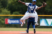 15 July 2010: Felix Brown of Team Saint Martin catches the ball during day 3 of the Open de Rouen, an international tournament with Team France, Team Saint Martin, Team All Star Elite, at Stade Pierre Rolland, in Rouen, France.