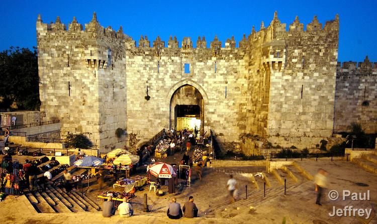 The Damascus Gate into the old city of Jerusalem.