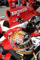 11 September, 2005, Joliet,IL,USA<br /> Dan Wheldon's helmet and car.<br /> Copyright&copy;F.Peirce Williams 2005