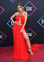 LOS ANGELES, CA. November 11, 2018: Nastassja Bolivar at the E! People's Choice Awards 2018 at Barker Hangar, Santa Monica Airport.<br /> Picture: Paul Smith/Featureflash