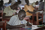 A student takes an exam in the Solidarity Teacher Training College (STTC) in Yambio, South Sudan. The STTC is run by Solidarity with South Sudan, an international network of Catholic groups working to train teachers, health workers and pastoral agents throughout the African country.