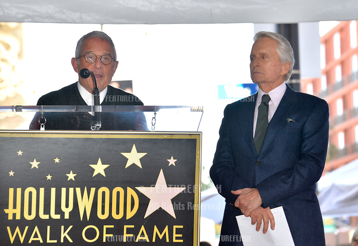 LOS ANGELES, CA. November 06, 2018: Ron Meyer &amp; Michael Douglas at the Hollywood Walk of Fame Star Ceremony honoring actor Michael Douglas.<br /> Pictures: Paul Smith/Featureflash