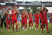 Commerce City, CO - Thursday June 08, 2017: USMNT celebrate during a 2018 FIFA World Cup Qualifying Final Round match between the men's national teams of the United States (USA) and Trinidad and Tobago (TRI) at Dick's Sporting Goods Park.