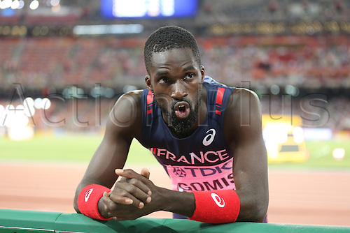 25.08.2015. Beijing, China.  Kafetien Gomis of France reacts during the men's Long Jump final of the Beijing 2015 IAAF World Championships at the National Stadium, also known as Bird's Nest, in Beijing, China, 25 August 2015.