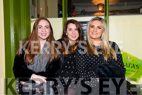 Sarah Jane Murphy, Emma Potter and Aisling O'Neill celebrating the New Year in Dingle.