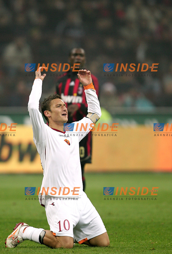 Francesco Totti (Roma) <br /> Italian &quot;Serie A&quot; 2006-07 <br /> 11 November 2006 (Match Day 11) <br /> Milan Roma (1-2) <br /> &quot;Giuseppe Meazza&quot; Stadium-Milano-Italy <br /> Photographer Andrea Staccioli INSIDE
