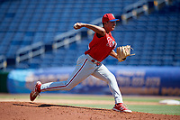 Philadelphia Phillies pitcher Michael Gomez (60) delivers a pitch during a Florida Instructional League game against the Toronto Blue Jays on September 24, 2018 at Spectrum Field in Clearwater, Florida.  (Mike Janes/Four Seam Images)