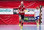 Eskilstuna 2014-10-03 Handboll Elitserien Eskilstuna Guif - Alings&aring;s HK :  <br /> Eskilstuna Guifs Mathias Tholin jublar efter ett av sina m&aring;l i matchen mot Sk&ouml;vdes<br /> (Foto: Kenta J&ouml;nsson) Nyckelord:  Eskilstuna Guif Sporthallen IFK Sk&ouml;vde HK jubel gl&auml;dje lycka glad happy