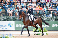 BEL-Karin Donckers rides Fletcha Van't Verahof during the FEI World Team and Individual Eventing Championship Dressage. 2018 FEI World Equestrian Games Tryon. Friday 14 September. Copyright Photo: Libby Law Photography