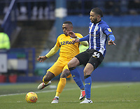 Preston North End's Darnell Fisher  in action with Sheffield Wednesday's Michael Hector<br /> <br /> Photographer Mick Walker/CameraSport<br /> <br /> The EFL Sky Bet Championship - Sheffield Wednesday v Preston North End - Saturday 22nd December 2018 - Hillsborough - Sheffield<br /> <br /> World Copyright &copy; 2018 CameraSport. All rights reserved. 43 Linden Ave. Countesthorpe. Leicester. England. LE8 5PG - Tel: +44 (0) 116 277 4147 - admin@camerasport.com - www.camerasport.com