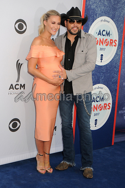 23 August 2017 - Nashville, Tennessee - Jason Aldean, Brittany Kerr. 11th Annual ACM Honors held at the Ryman Auditorium. Photo Credit: Dara-Michelle Farr/AdMedia