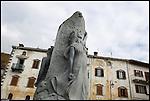 Monumento in Piazza Garibaldi a Vico Canavese, importante rifugio per i carbonari nei moti del 1821.