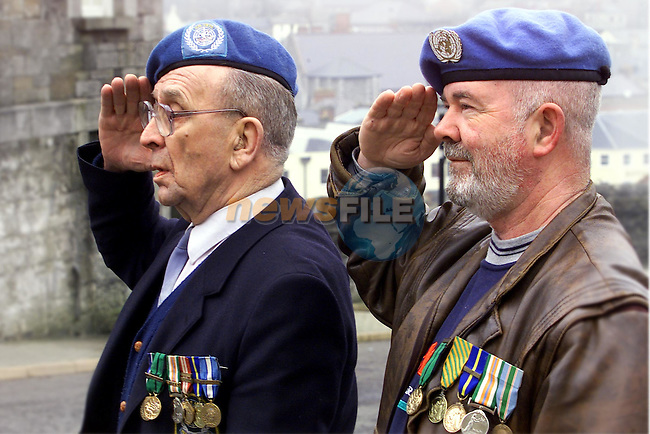 John Keenan and Micheal Smith, former soldiers from Yellowbatter..Picture: Arthur Carron/Newsfile