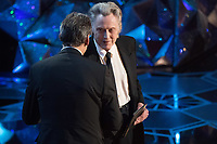 Christopher Walken presents the Oscar&reg; for achievement in music written for motion pictures (Original score) to Alexandre Desplat for work on &ldquo;The Shape of Water&rdquo; during the live ABC Telecast of The 90th Oscars&reg; at the Dolby&reg; Theatre in Hollywood, CA on Sunday, March 4, 2018.<br /> *Editorial Use Only*<br /> CAP/PLF/AMPAS<br /> Supplied by Capital Pictures