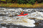 Whitewater Kayaker on the Ashuelot River in Gilsum, New Hampshire USA
