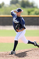 Jeremy Hefner, San Diego Padres 2010 minor league spring training..Photo by:  Bill Mitchell/Four Seam Images.