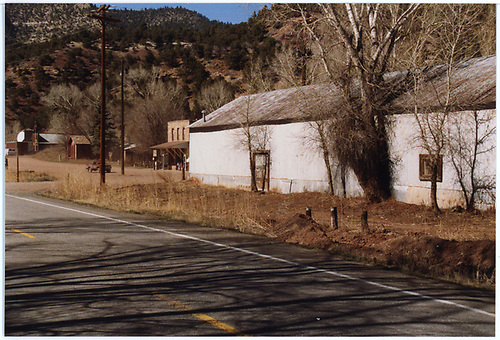View of Placerville freight warehouse by highway.<br /> RGS  Placerville, CO