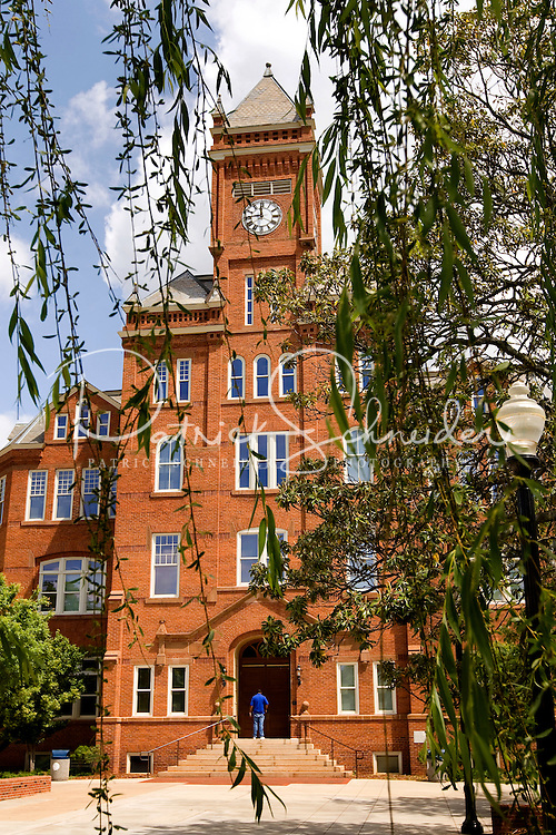 The iconic clock tower on Johnson C. Smith University campus.