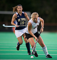 STANFORD, CA - September 3, 2010: Kelsey Lloyd (18) during a field hockey match against UC Davis in Stanford, California. Stanford won 3-1.
