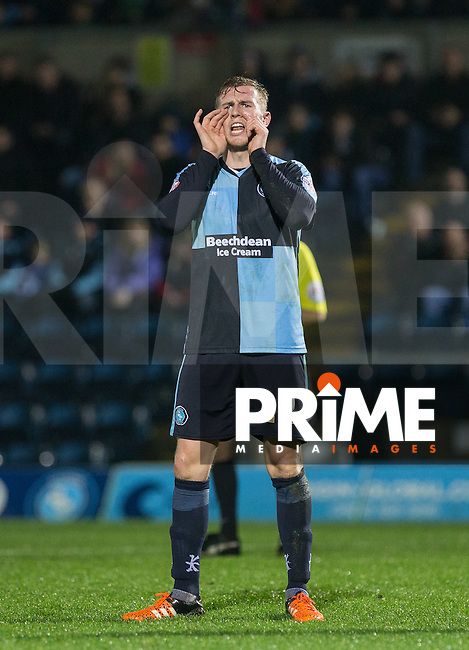 Jason McCarthy of Wycombe Wanderers during the Sky Bet League 2 match between Wycombe Wanderers and Notts County at Adams Park, High Wycombe, England on 15 December 2015. Photo by Andy Rowland.