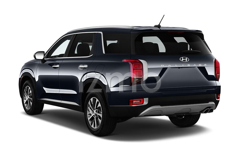 Car pictures of rear three quarter view of a 2020 Hyundai Palisade SEL 5 Door SUV angular rear