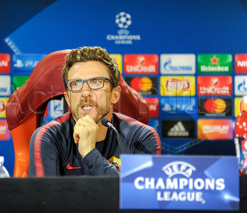 October 30th 2017, Rome, Italy; Press conference for AS Roma before their Champions League game versus Chelsea on 31st October in Rome;  Eusebio Di Francesco