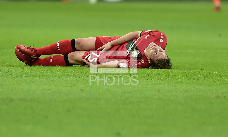 Football : Germany -1. Bundesliga  2017/18 <br /> Bayer Leverkusen 04 vs Mainz <br /> 28/01/2018 - Julian Baumgartlinger (Bayer 04 Leverkusen) *** Local Caption *** &copy; pixathlon<br /> Contact: +49-40-22 63 02 60 , info@pixathlon.de