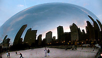 Self portrait with my mom at the Cloud Gate sculpture in Chicago in 2007.