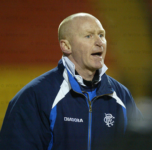 John Brown, Rangers u21 coach.Stock Season 2003-2004.pic willie vass