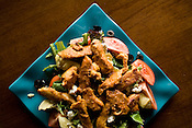 July 16, 2008. Durham, NC..The Chipotle Chicken salad at Blue Corn Cafe in Durham, a favorite of CDS director, Tom Rankin,