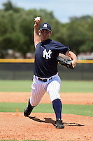 GCL Yankees 2 pitcher Mike Noteware (11) delivers a pitch during a game against the GCL Braves on June 23, 2014 at the Yankees Minor League Complex in Tampa, Florida.  GCL Yankees 2 defeated the GCL Braves 12-4.  (Mike Janes/Four Seam Images)