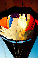 Filling Hot Air Balloon at Lake Havasu City, AZ.