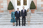 "King Felipe VI of Spain and Queen Letizia of Spain offered a lunch at His Excellencies the President of the Republic of Hungary, Mr. Janos Ader, and Ms. Anita Herczegh, on the occasion of their trip to Spain to inaugurate the exhibition ""Masterpieces From the Renaissance to the Vanguards "", which brings together in the Thyssen-Bornemisza Museum a careful selection of 90 works from the permanent collection of the Museum of Fine Arts in Budapest and the Hungarian National Gallery. February 17 ,2017. (ALTERPHOTOS/Pool)"