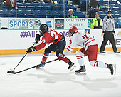 Sudbury, ON - April 26 2018 - Game 10 - Notre Dame vs Lethbridge Hurricanes at the 2018 TELUS Cup at the Sudbury Community Arena in Sudbury, Ontario, Canada (Photo: Matthew Murnaghan/Hockey Canada)